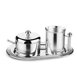 Silver Plated Sugar & Creamer Set