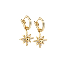Amy Star Earrings with Clear Stones