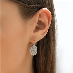 Newbridge Silverware Oval Earrings with Clear Stones