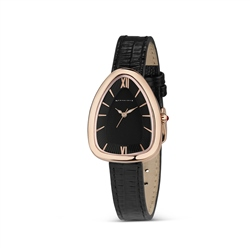Newbridge Silverware Ladies Black Triangular Watch
