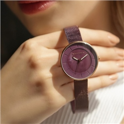 Ladies Watch Aubergine Strap