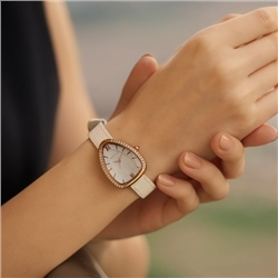 Ladies White Triangular Watch