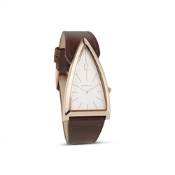 Newbridge Silverware Unisex Brown Triangular Watch