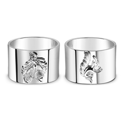 Newbridge Silverware Squirrel and Acorn Napkin Rings x 4