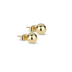 Gold plated Stud Earrings 8mm