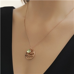 Newbridge Silverware Ariel Pendant with Green Stone