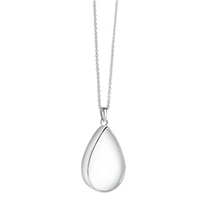 Newbridge Silverware Teardrop Pendant with Clear Stone