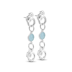 Newbridge Silverware Ceol Earrings with Blue Stones