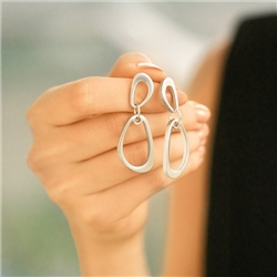 Newbridge Silverware Silver Plated Droplet Earrings