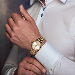 Newbridge Silverware Gents Gold Plated Watch