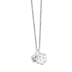 Newbridge Silverware Floral Pendant with Clear Stone 3