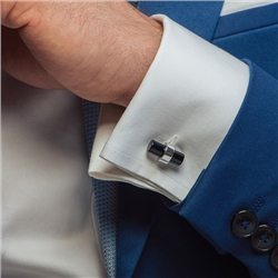 Cufflinks with Black Stone
