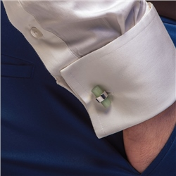 Newbridge Silverware Cufflinks with Green Stone