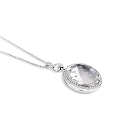 Locket with Large Clear Stone