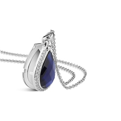 Locket with Sapphire Blue Stone