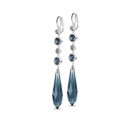 Newbridge Silverware Silverplate Drop Earring with Blue Stones