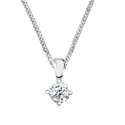 Newbridge Silverware 18ct White Gold Diamond Pendant - 0.30ct