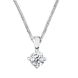 Newbridge Silverware 18ct White Gold Diamond Pendant - 0.50ct