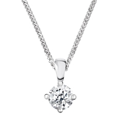 Newbridge Silverware 18ct White Gold Diamond Pendant - 0.60ct