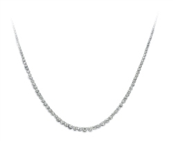 Newbridge Silverware 18ct White Gold Original Necklace - Graduated 8ct
