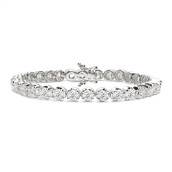 Newbridge Silverware 18ct White Gold Diamond Tennis Bracelet - 10.0ct