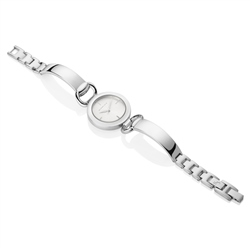 Ladies Silverplated Watch Solid & link bracelet