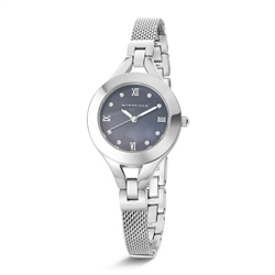 Newbridge Silverware Ladies Silverplated Watch Mesh/link bracelet