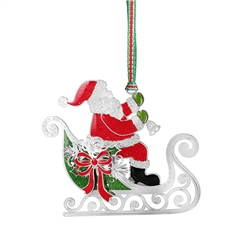 Newbridge Silverware Santa in Sleigh Colour Decoration