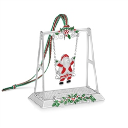 Newbridge Silverware Santa on Swing Decoration