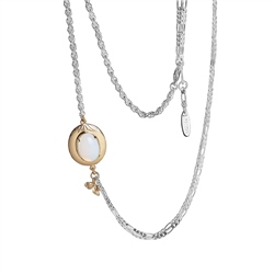 Newbridge Silverware Dalique Necklace with Opal Coloured Stone