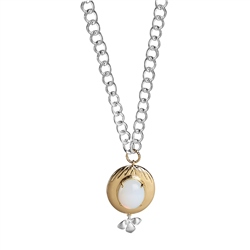 Newbridge Silverware Dalique Pendant with Opal Coloured Stone