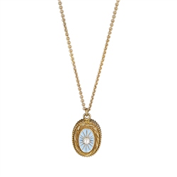 Newbridge Silverware Turquoise Coloured Pendant with Pearl Stone