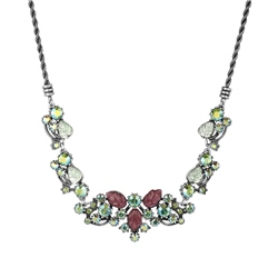 Vintage Floral and Leaf Necklace