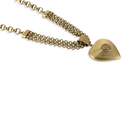 Vintage Heart Gold Plated Necklace