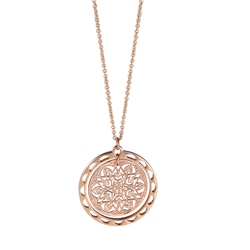 Newbridge Silverware Vintage Round Filigree Pendant