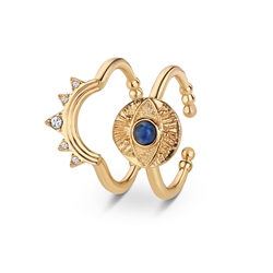 All Seeing Evil Eye Stacking Rings