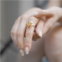 Dalique Orchid Ring