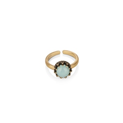 Newbridge Silverware Ring with Aqua Stone Setting