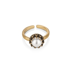 Newbridge Silverware Ring with Pearl Setting