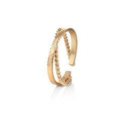 Newbridge Silverware Rope Style Twist Ring