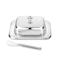 Newbridge Silverware Silver Plated Rectangular Butter Dish