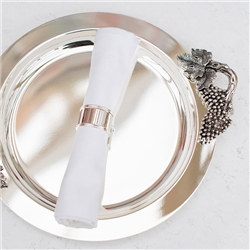 Newbridge Silverware Silver Plated Round Tray Grape Motif