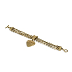 Newbridge Silverware Vintage Heart Gold Plated Bracelet