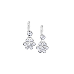 Newbridge Silverware Floral Earrings with Clear Stones