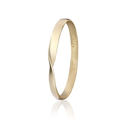 Newbridge Silverware Dalique Gold Plated Twist Bangle