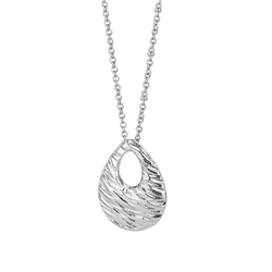 Newbridge Silverware Droplet Oval Pendant