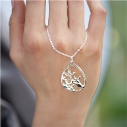 Newbridge Silverware Leaf Oval Pendant