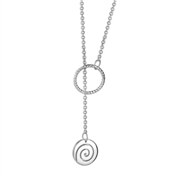 Silver Plated Tara Twist Pendant by Newbridge Silverware