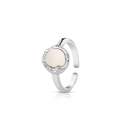 Silver Plated Ring with Natural Shell Pearl
