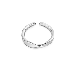 Silver Plated Twist Ring